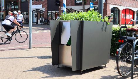 В Амстердаме установили туалеты-клумбы с марихуаной