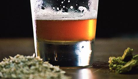 Пиво и трава