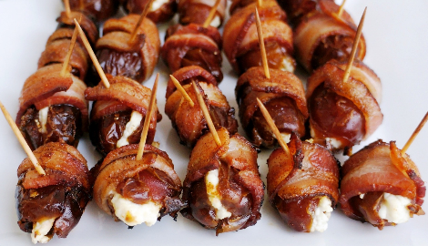 КаннаКухня: Сырные финики с беконом