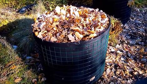 Видео: Компостная куча из листьев