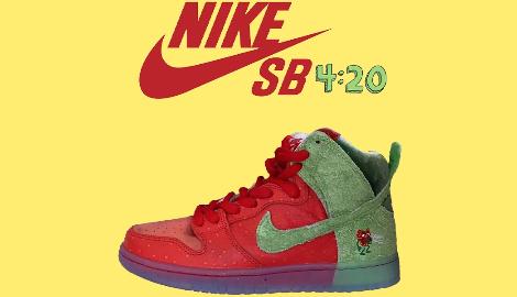 Nike выпустила кроссовки в честь сорта каннабиса «Strawberry Cough»