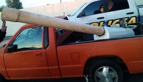 Мексиканцы изобрели пушку, которая стреляет каннабисом