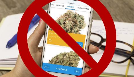 Google не дает приложениям продавать марихуану