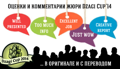 Оценки и комментарии главного жюри DzagiCup'14